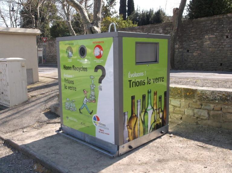 Ecobox verre avec option trappe gros producteur
